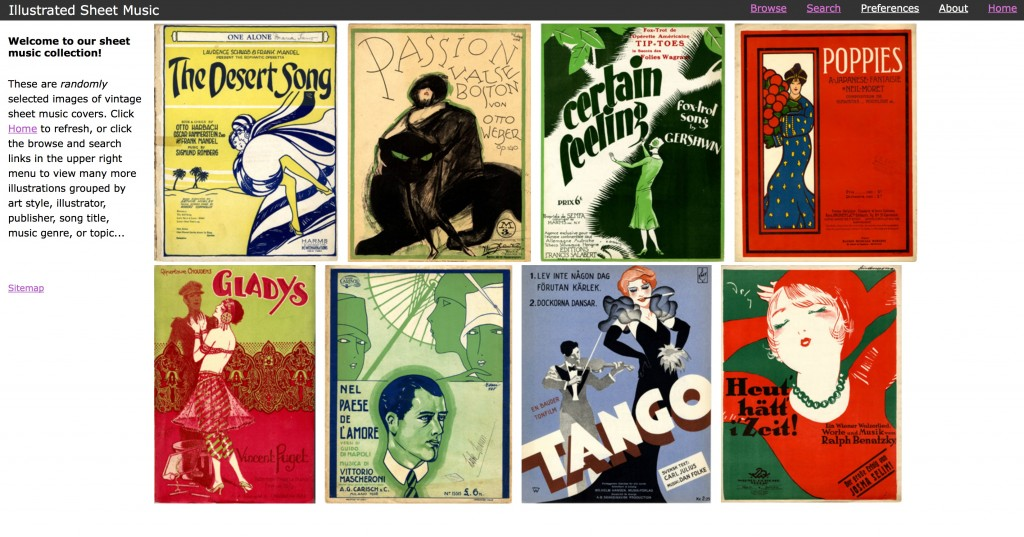 Illustrated Sheet Music: www.imagesmusicales.be
