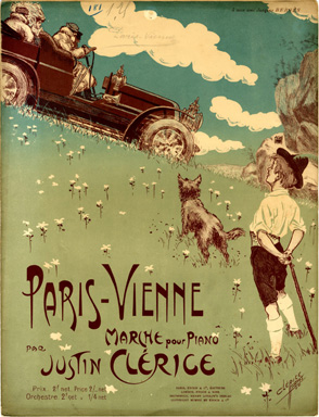 """Paris-Vienne"", March composed by Justin Clérice (1907)"