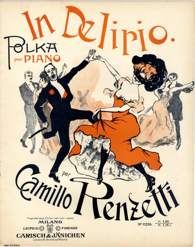 """""""In delirio"""", polka by Camillo Renzetti (1908)"""
