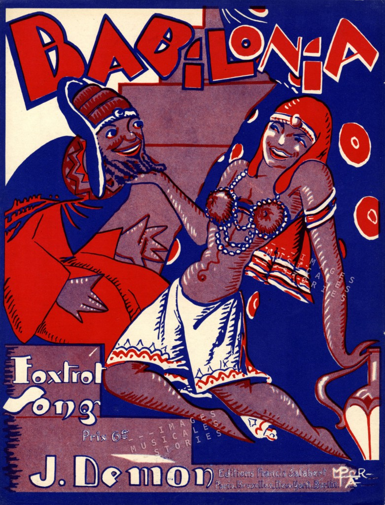 Babilonia, foxtrot by J. Demón (Editions Salabert, Paris, 1928)