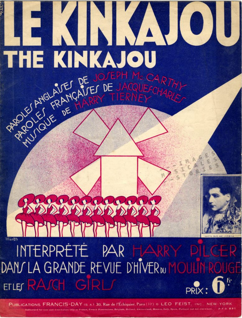 'Le Kinkajou' sheet music cover illustrated by Würth