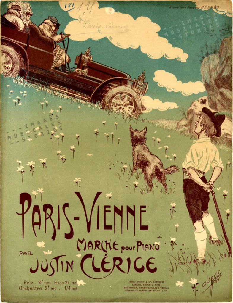 'Paris-Vienne, march by Justin Clérice - sheet music