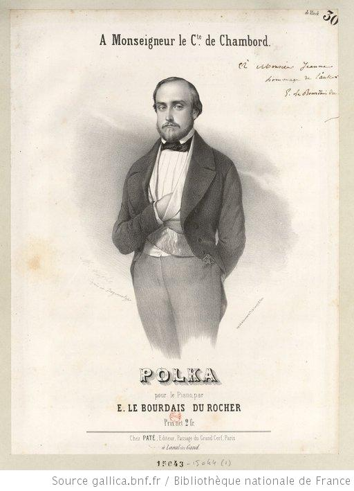 """Polka"", composed by E. Le Bourdais du Rocher. Lithography by Marie-Alexandre Alophe (1812-1883)"