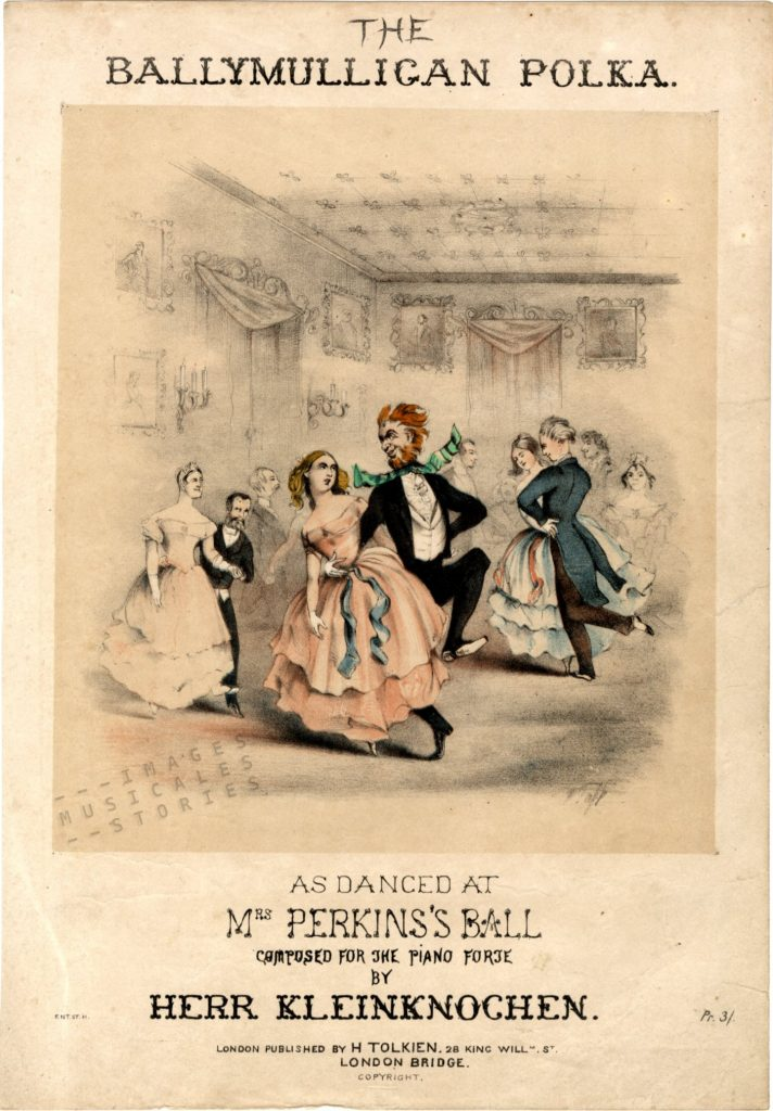 sheet music illustrated by Thackeray