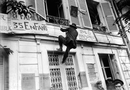 Georges Cochon in action to defend Parisian tenants