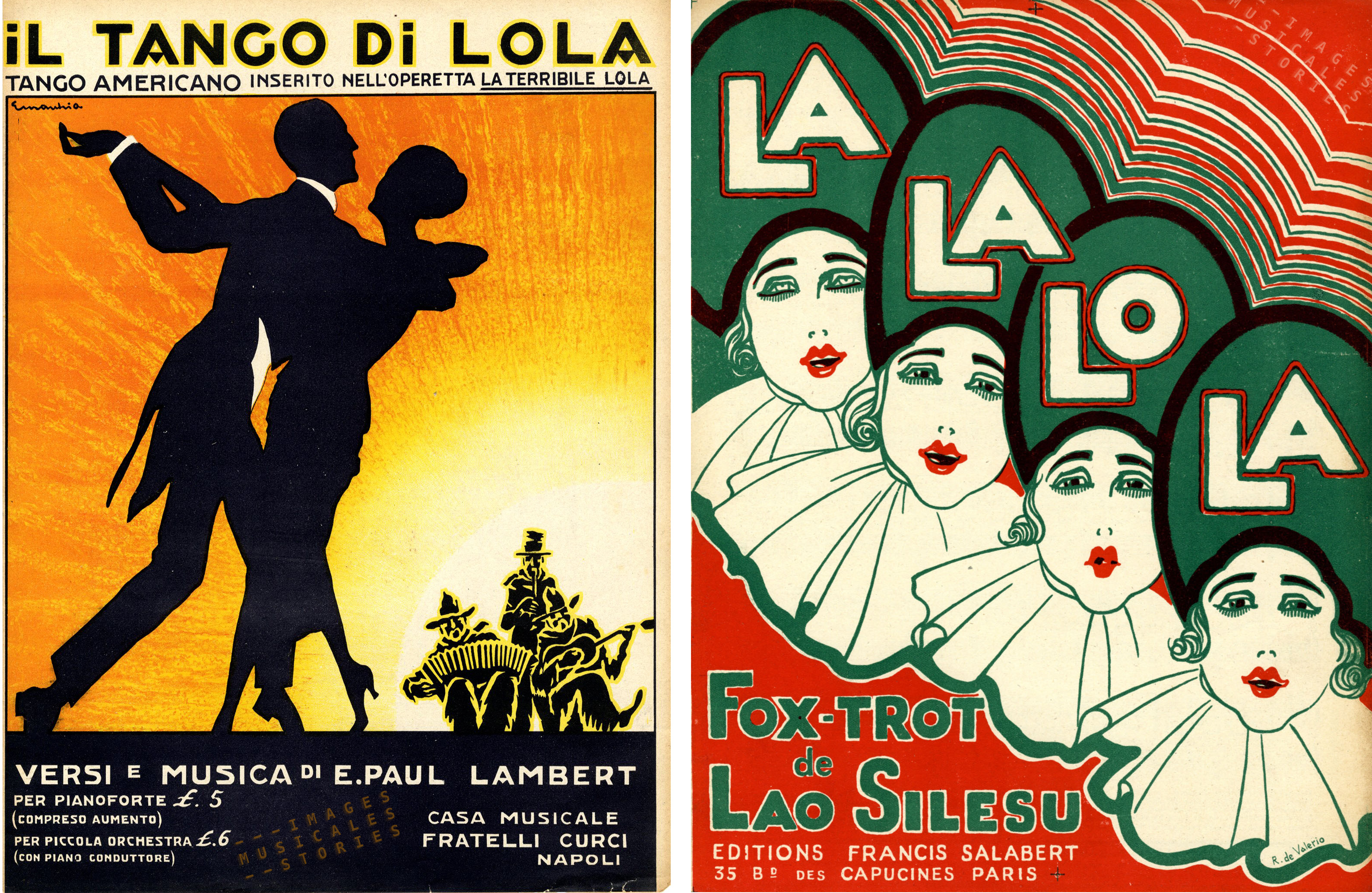 Lola (first name) sheet music covers on images musicales.be website