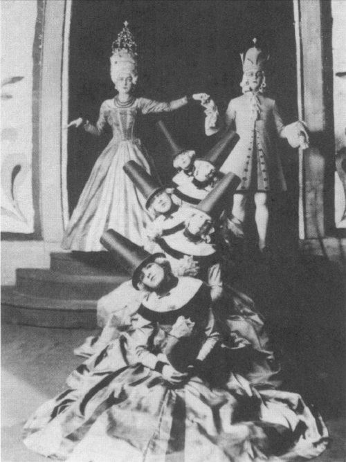 A ballet scene for which Nerman designed the costumes and the set