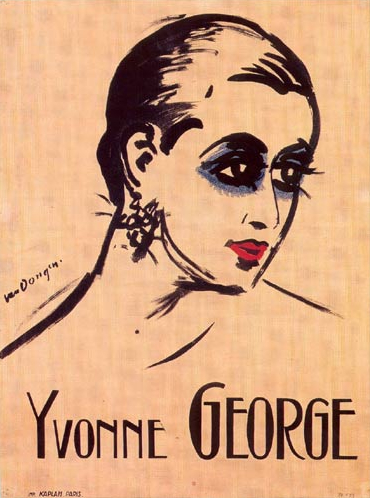 Portrait of Yvonne George, from a poster by Kees van Dongen