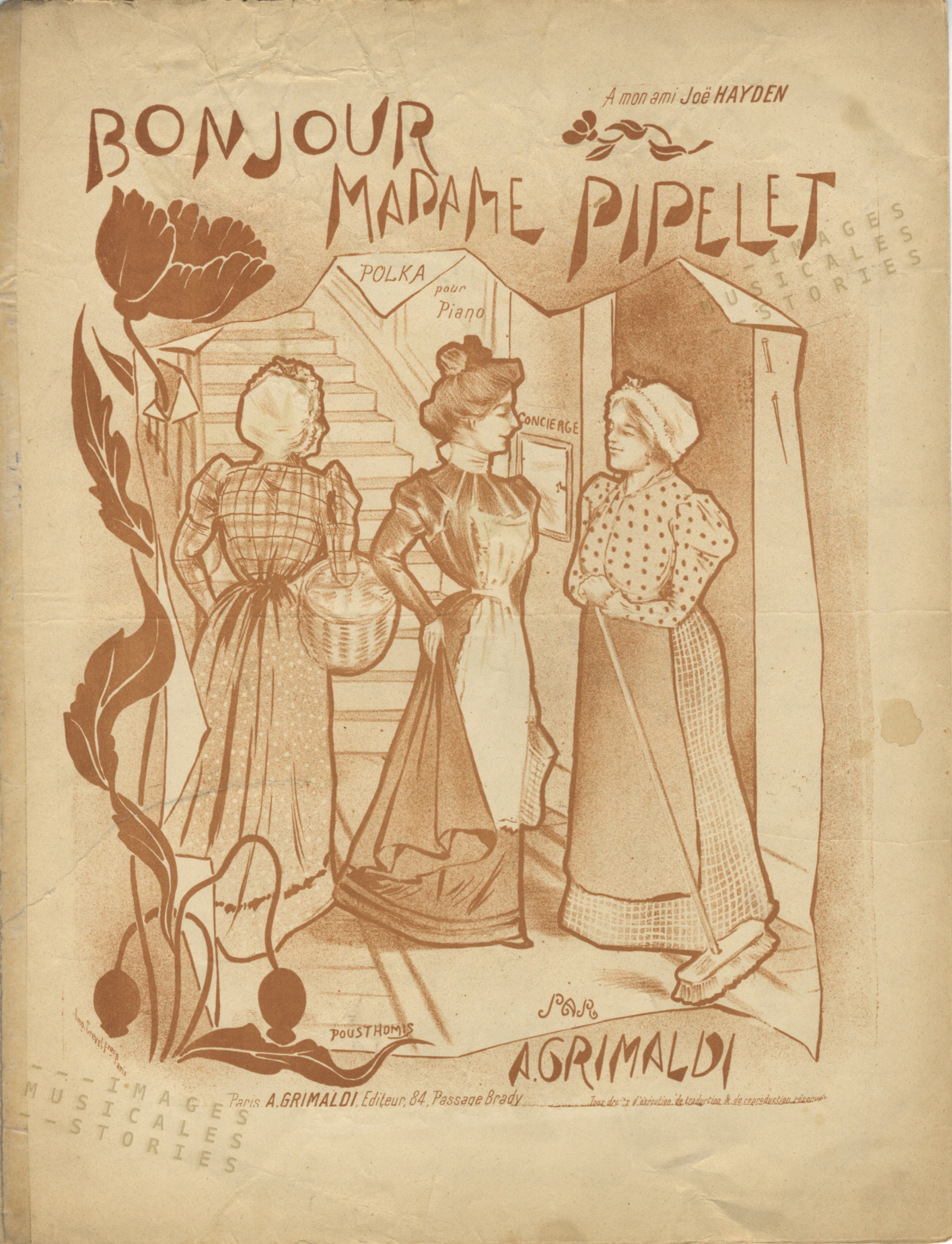 Bonjour Madame Pipelet, cover illustrated by Pousthomis