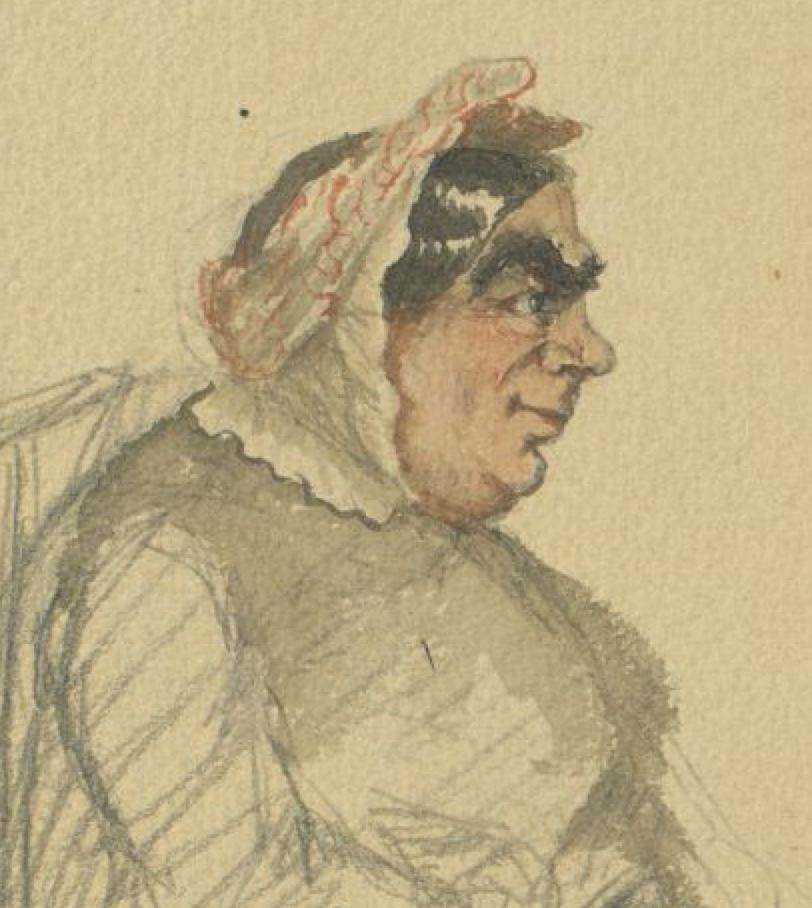 Le roman chez la portière, illustration by Lhéritier