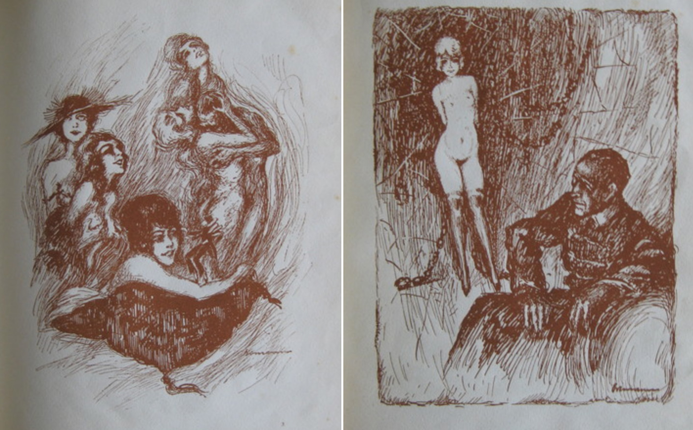 Illustrations by W. Ortmann for 'Das Brevier des Junggesellen' (1919)