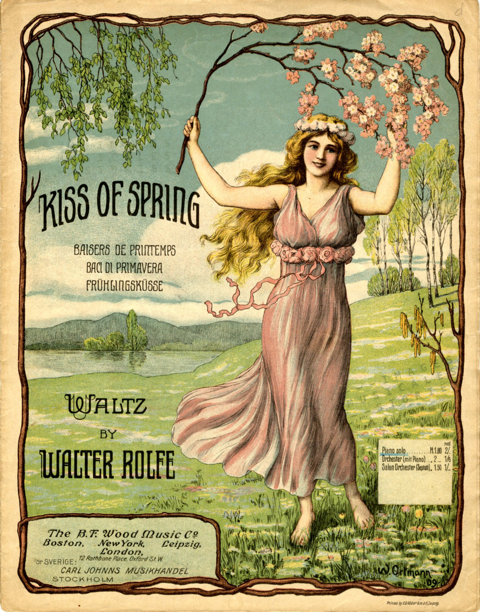 Kiss of Spring, illustrated by Wolfgang Ortmann in 1909.