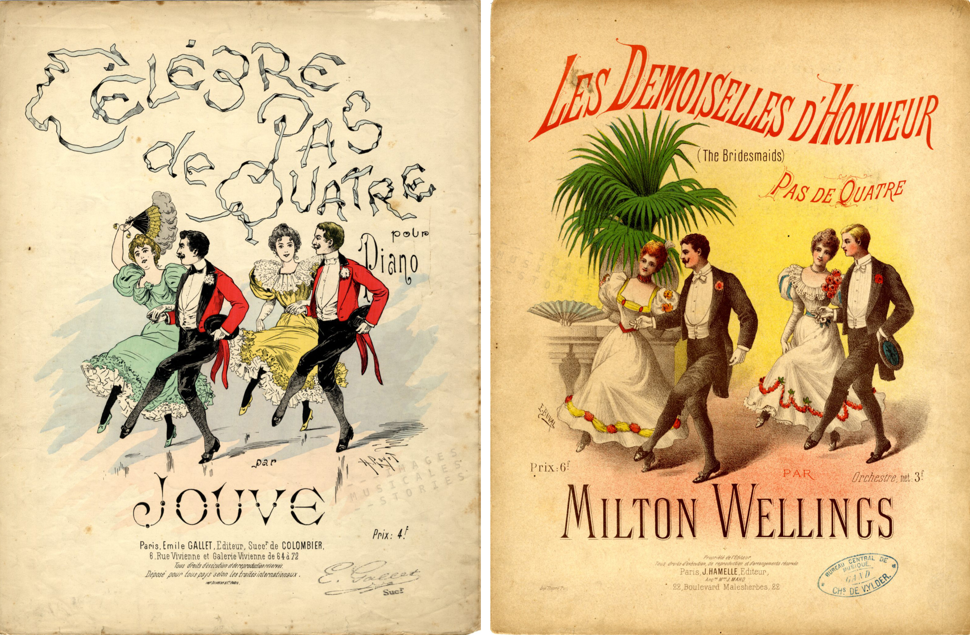 'Pas de Quatre' sheet music covers from www.imagesmusicales.be