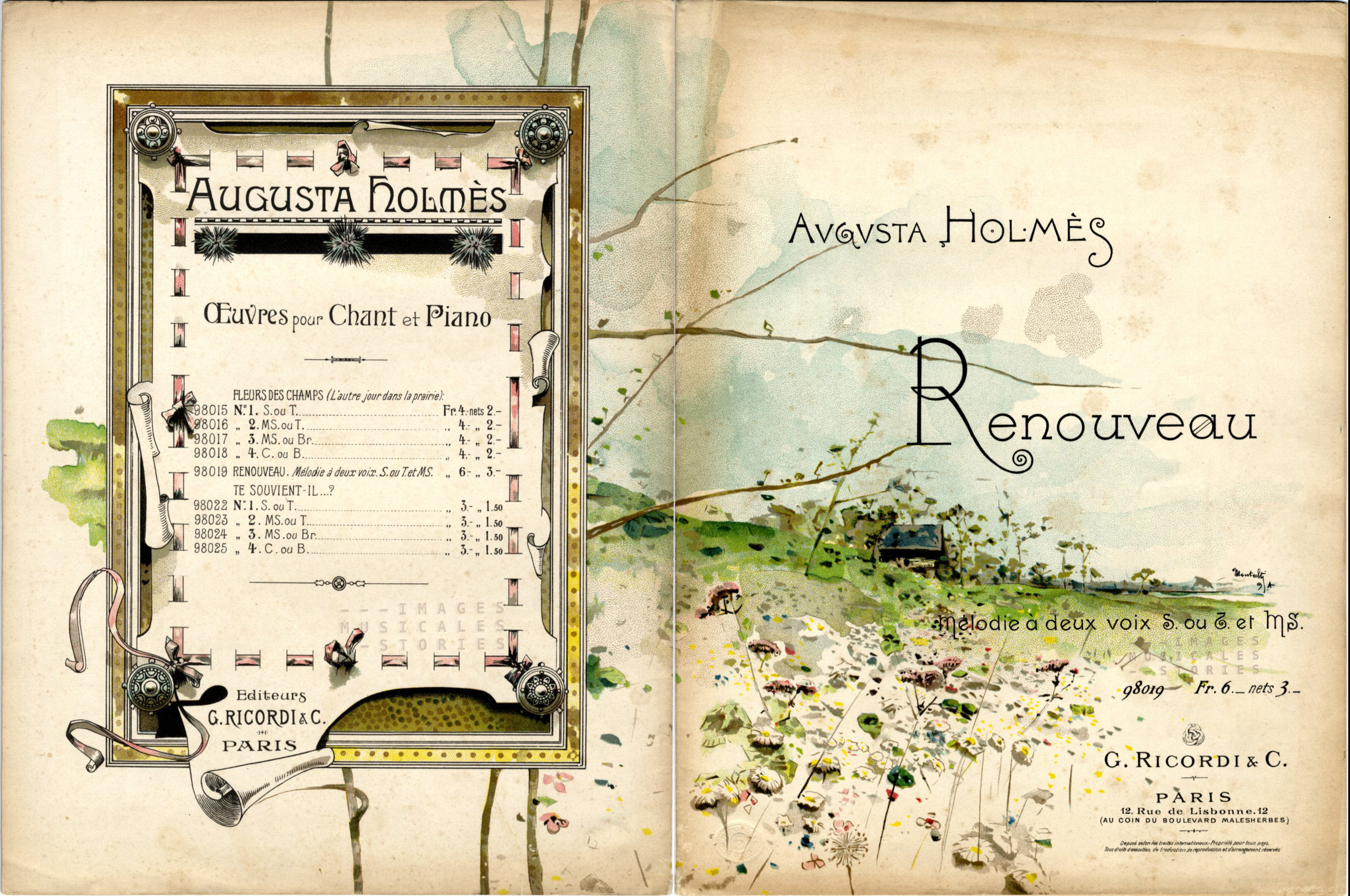 'Renouveau', composed by Augusta Holmes