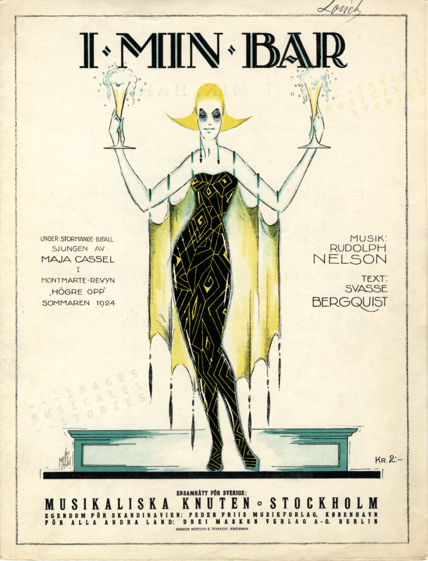 'I min bar', music by Rudolph Nelson (1924 - click image to enlarge