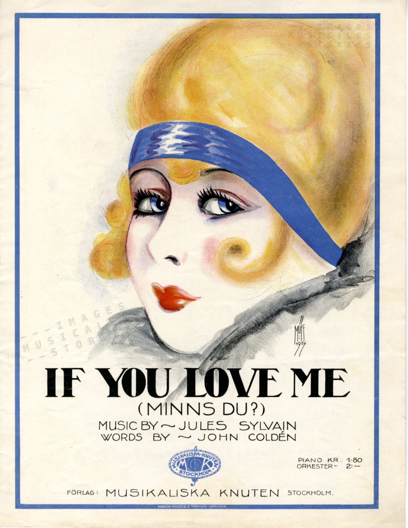 'If you love me', music by Jules Sylvain (1924)