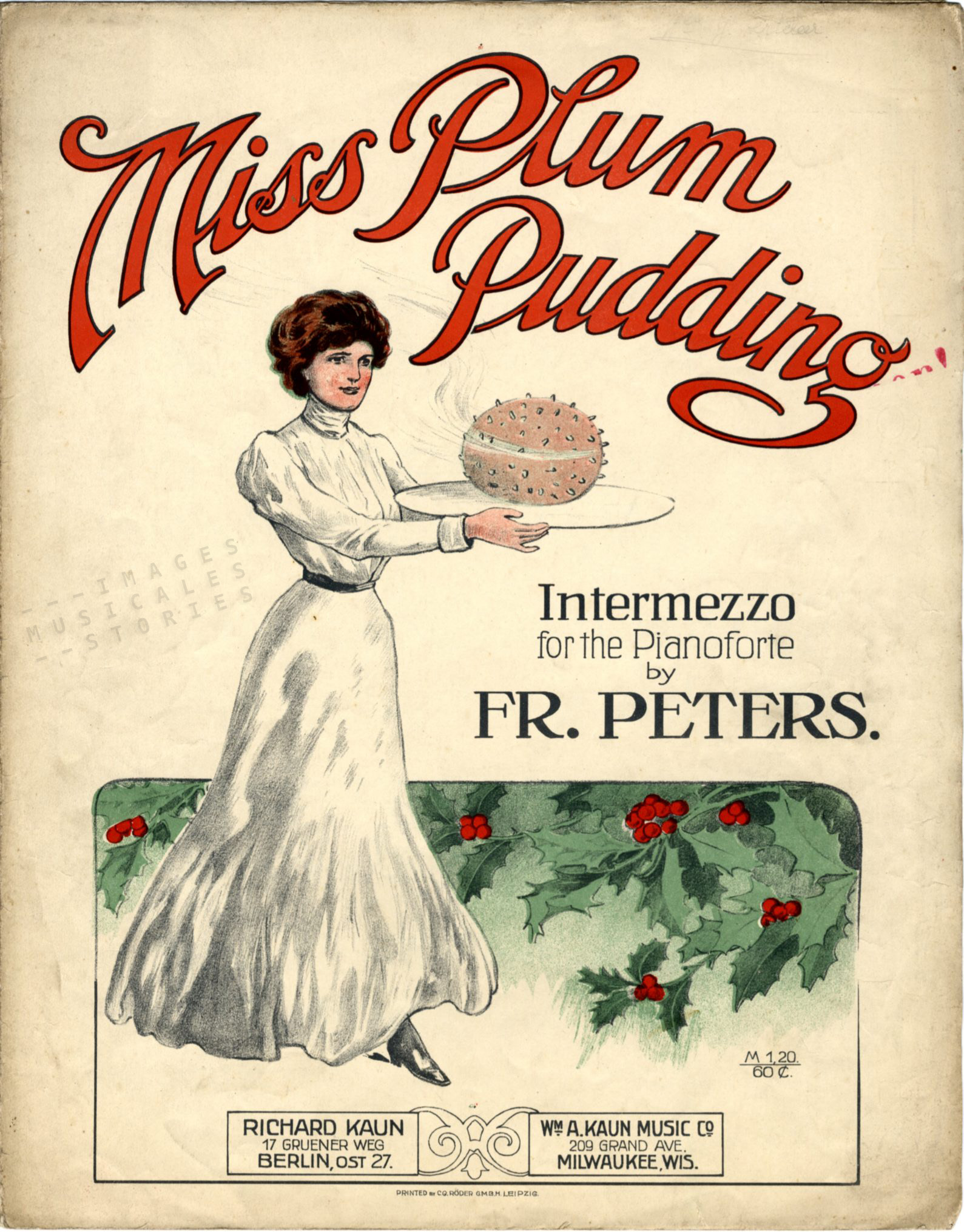 'Miss Plum Pudding' piano intermezzo by Fr. Peters
