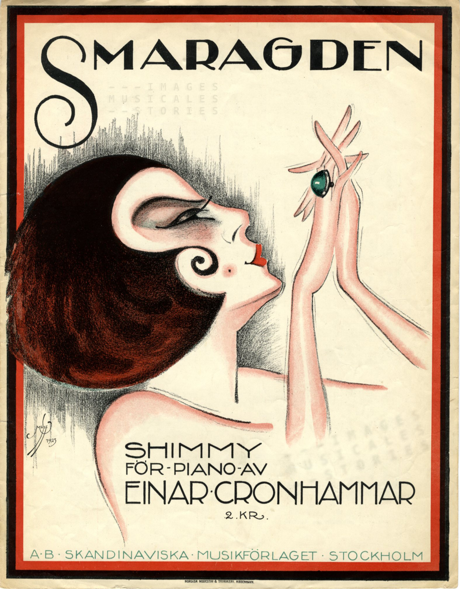 'Smaragden', music by Einar Cronhammar (1923) - click image to enlarge
