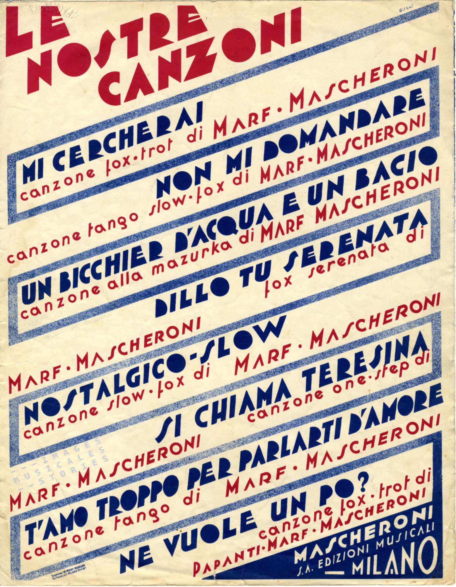 Catalog publicity for publisher Mascheroni. Illustrated by Gilbàs