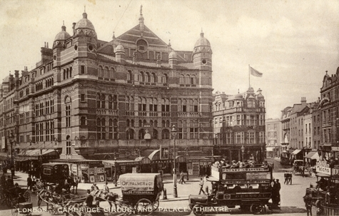 View of the Palace Theatre across Cambridge Circus, London, 1910