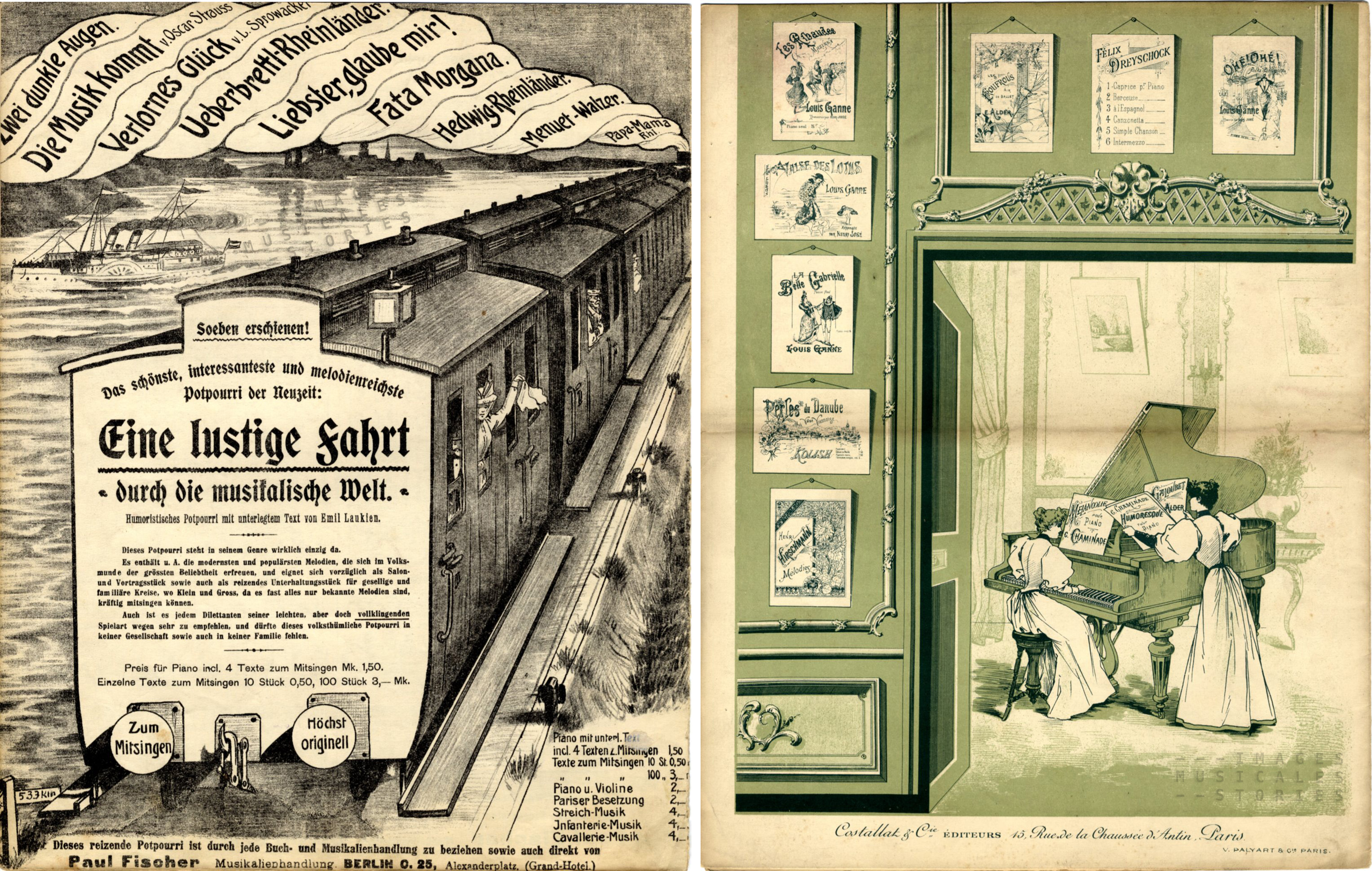 Left: the German illustrator worked out a very narrative view of the catalog.