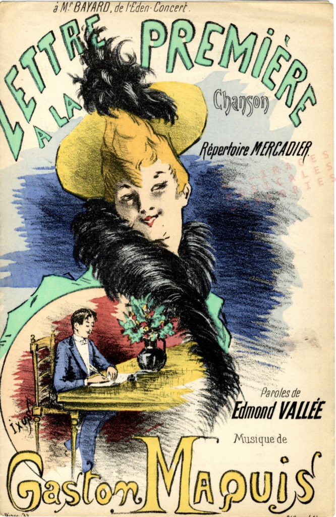 Sheet music cover illustrated by Ixus (partition musicale illustrée)
