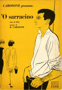 'O Sarracino', (music: Carosone - Lyrics: Nisa), illustrator unknown. Edizioni EDIR, Milano, 1958.