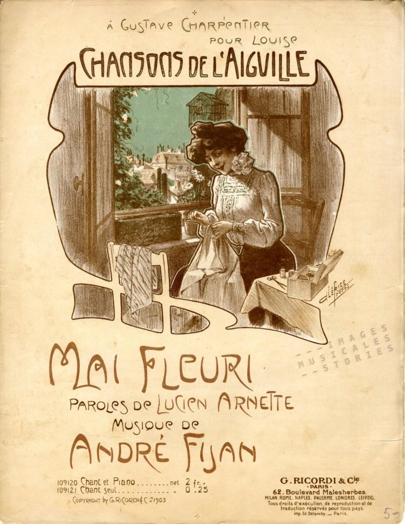 Chansons de l'aiguille (sheet music / partition musicale illustrée)