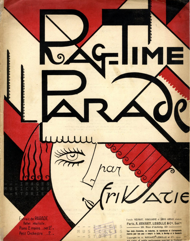 'Rag-Time Parade', composed by Erik Satie (Rouart, Lerolle & Cie, Paris, 1919)