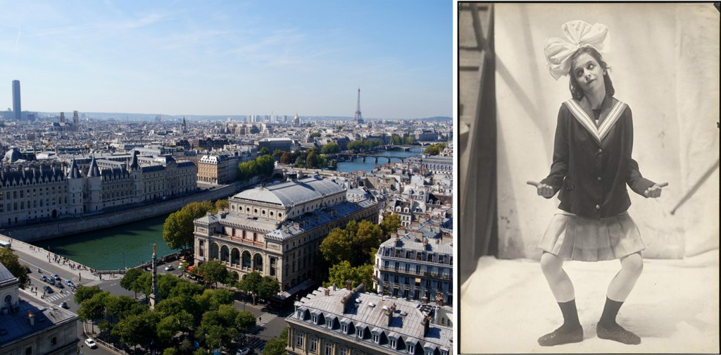 Left: the Théatre du Chatelet in Paris; Right: photo of The Little Girl in Parade.