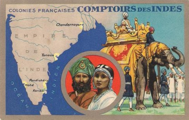 'Comptoir des Indes', collectible card