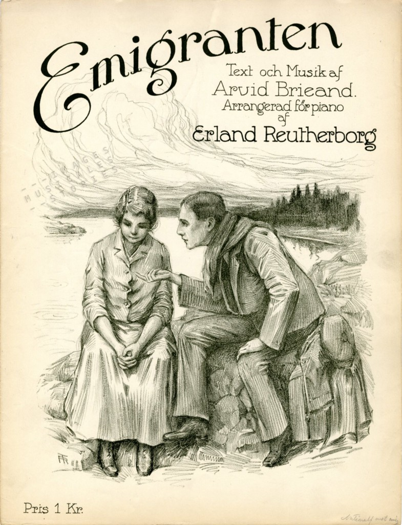 'Emigranten', Swedish Sheet Music by Arvid Brieand
