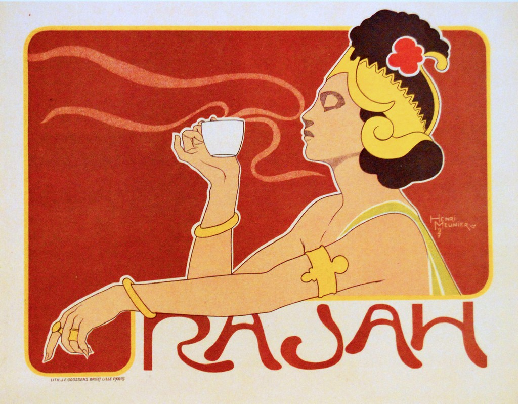 Publicity poster for Rajah coffee (Henri Meunier, 1897).