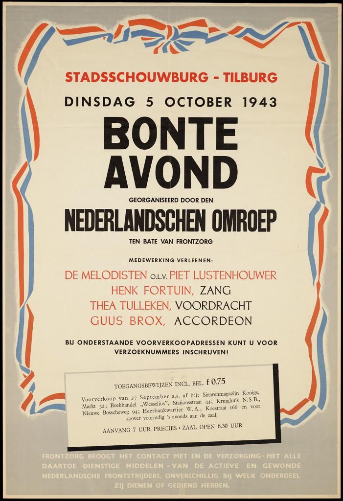 Bonte-avond poster, Henk Fortuin 1943