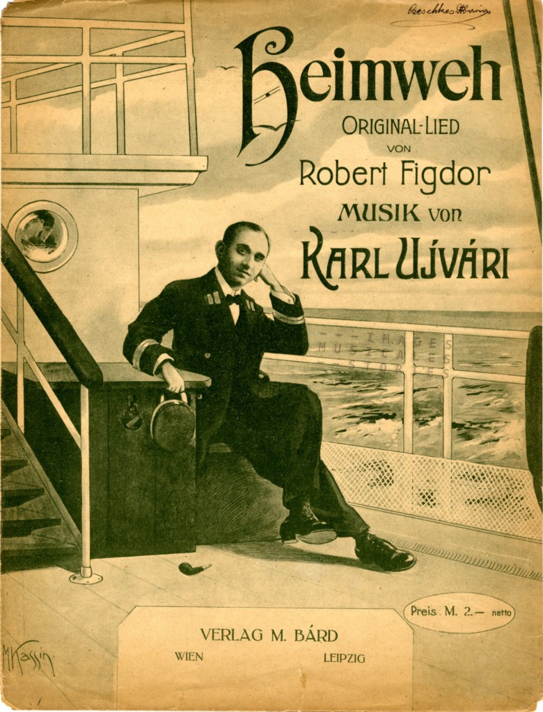 Sheet Music cover for Heimweh  by Karl Ujvari and Robert Figdor