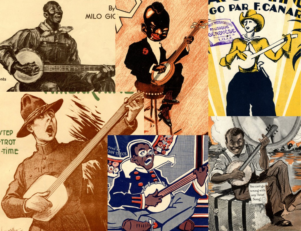 Banjo elements from our Illustrated Sheet Music collection