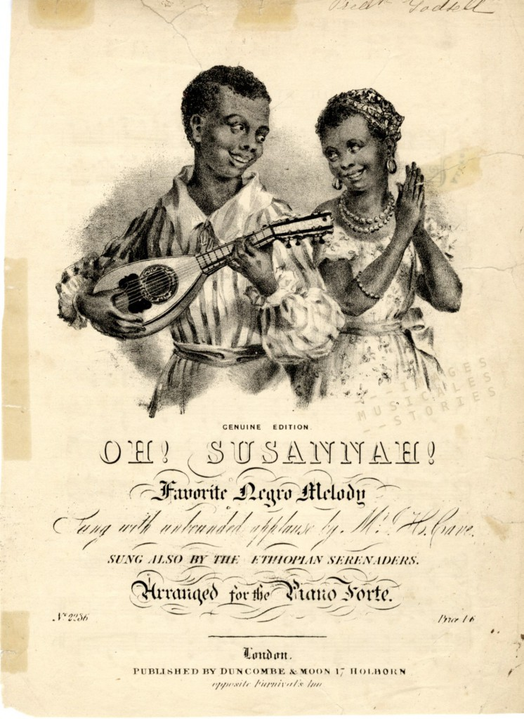 """Oh Susannah!"" sheet music cover."