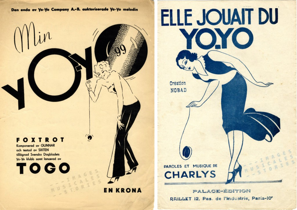 The yo-yo craze on sheet music covers.