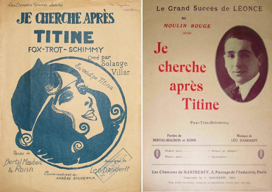 Petits formats (small sheet music) of 'Je cherche après Titine'.