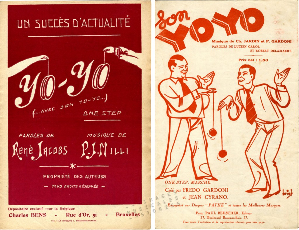 Yo-Yo sheet music covers from www.imagesmusicales.be, partitions illustrées