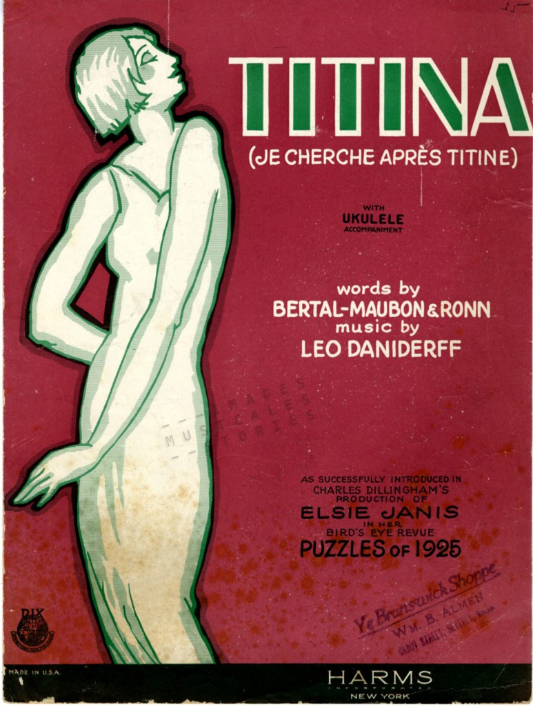 Titina sheet music cover by Harms Inc. 1924.