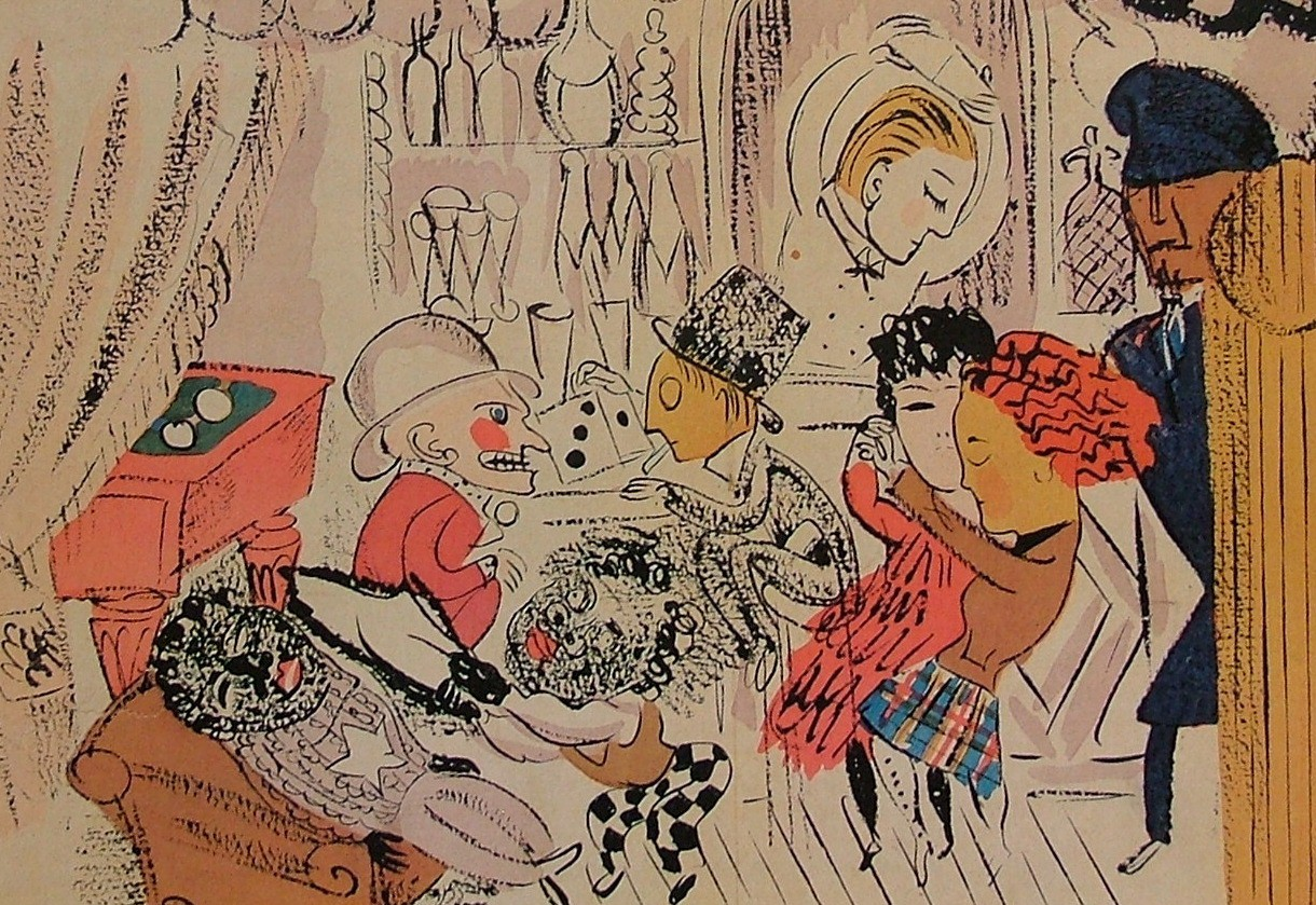 Illustration for Le Boeuf sur le toit by Raoul Dufy.