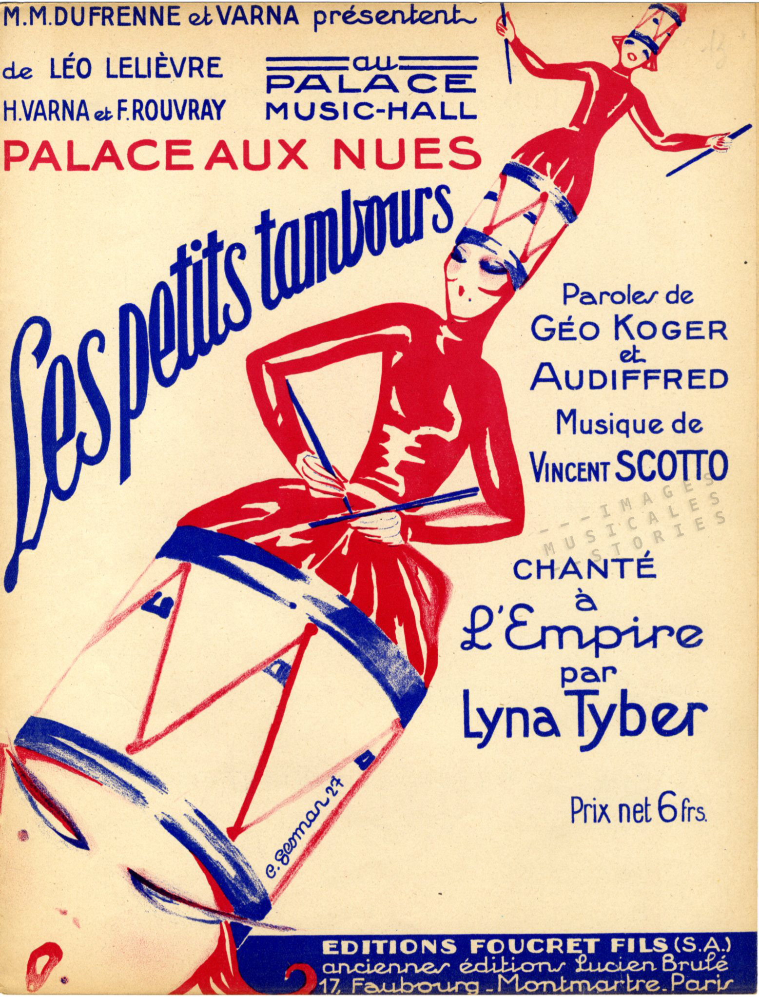 Sheet Music Cover, poster by Gesmar (partition musicale illustrée), 1927
