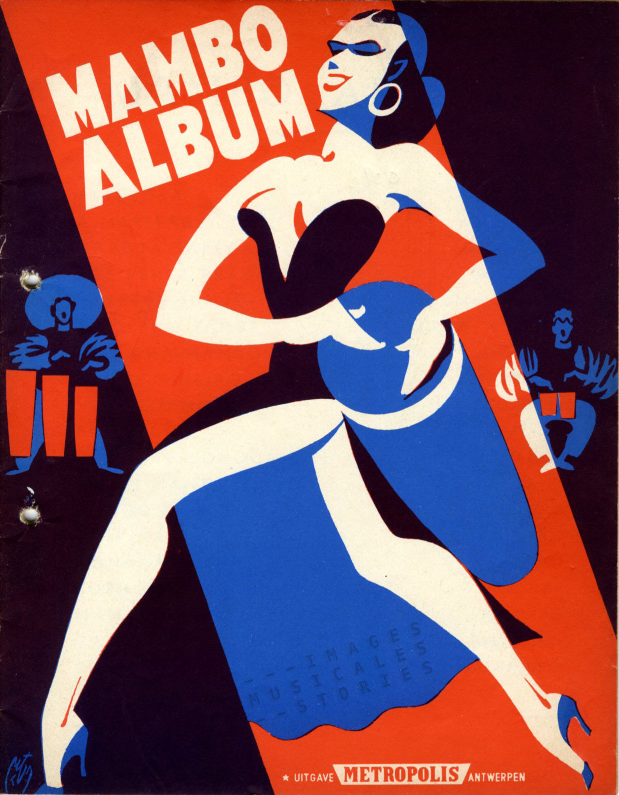 Sheet music cover by Peter Dde Greef (partion de musique illustrée)