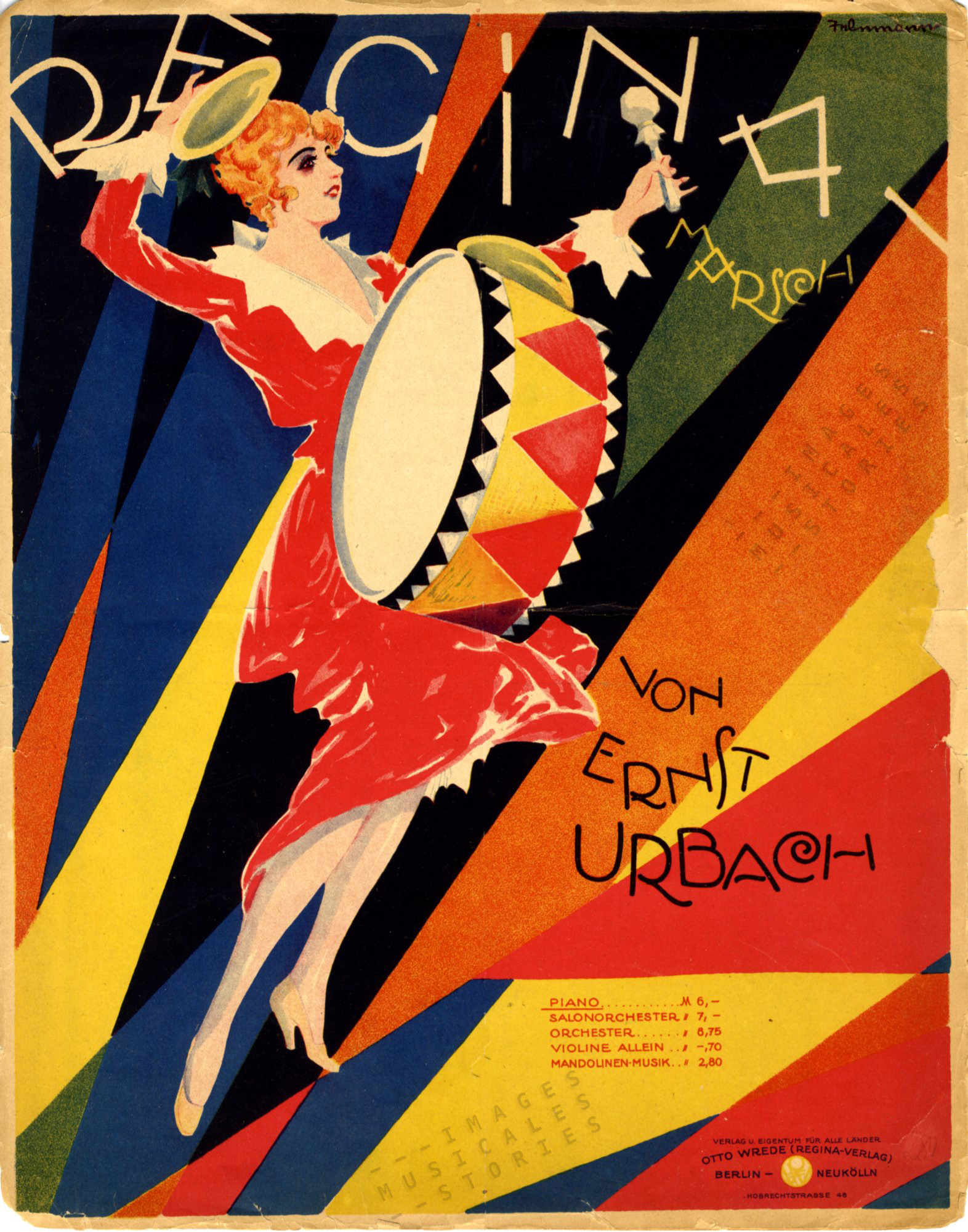 Sheet music cover illustrated by P. Telemann