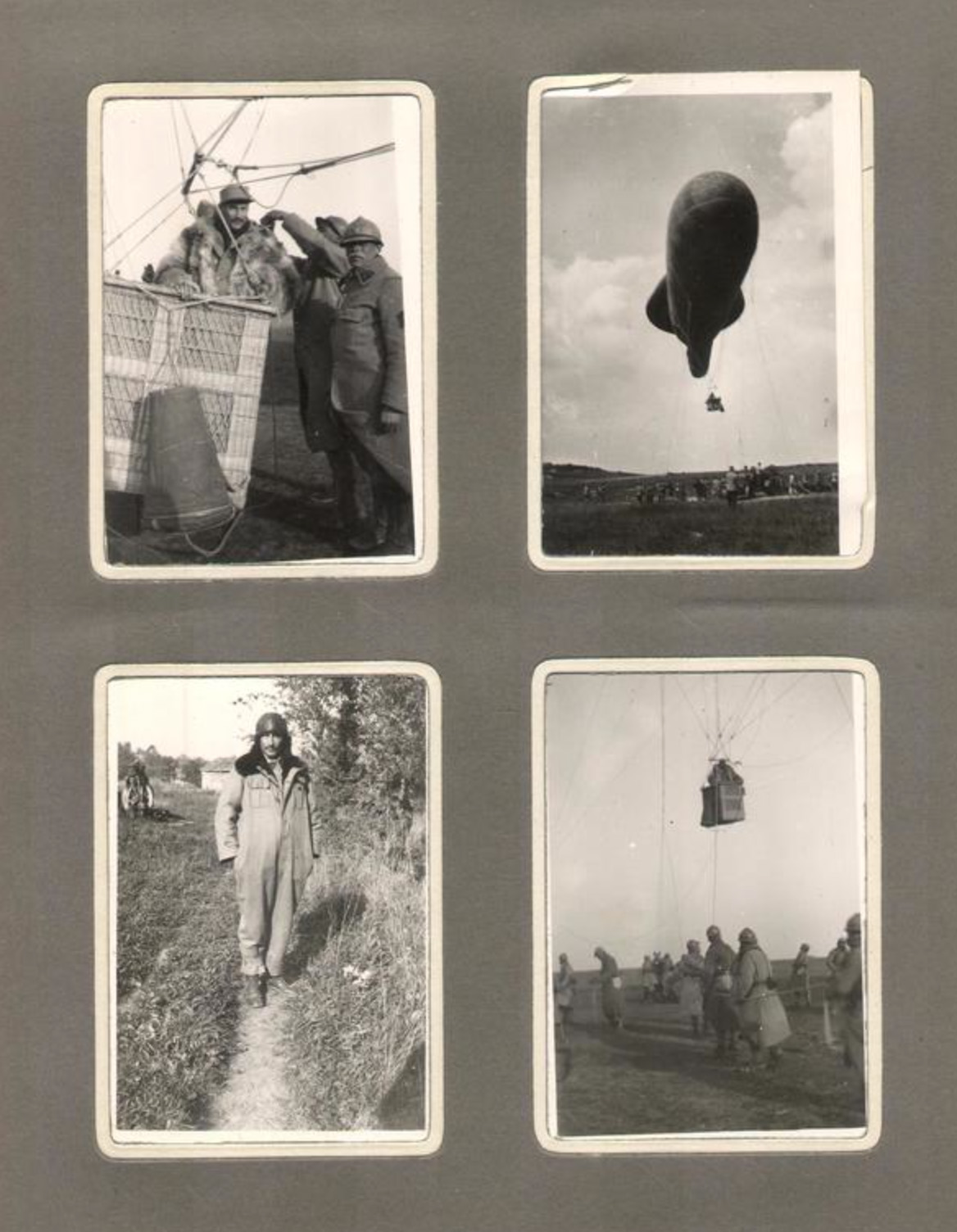 Airship, WWI. Pilot is Raymond Marabout