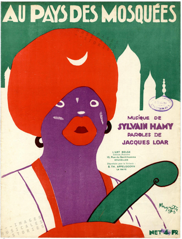 Partition de musique, illustrée par René Magritte