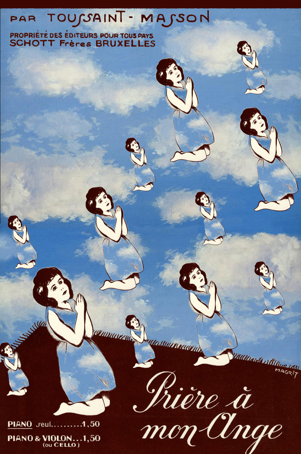 Risultati immagini per magritte prière de mon ange?