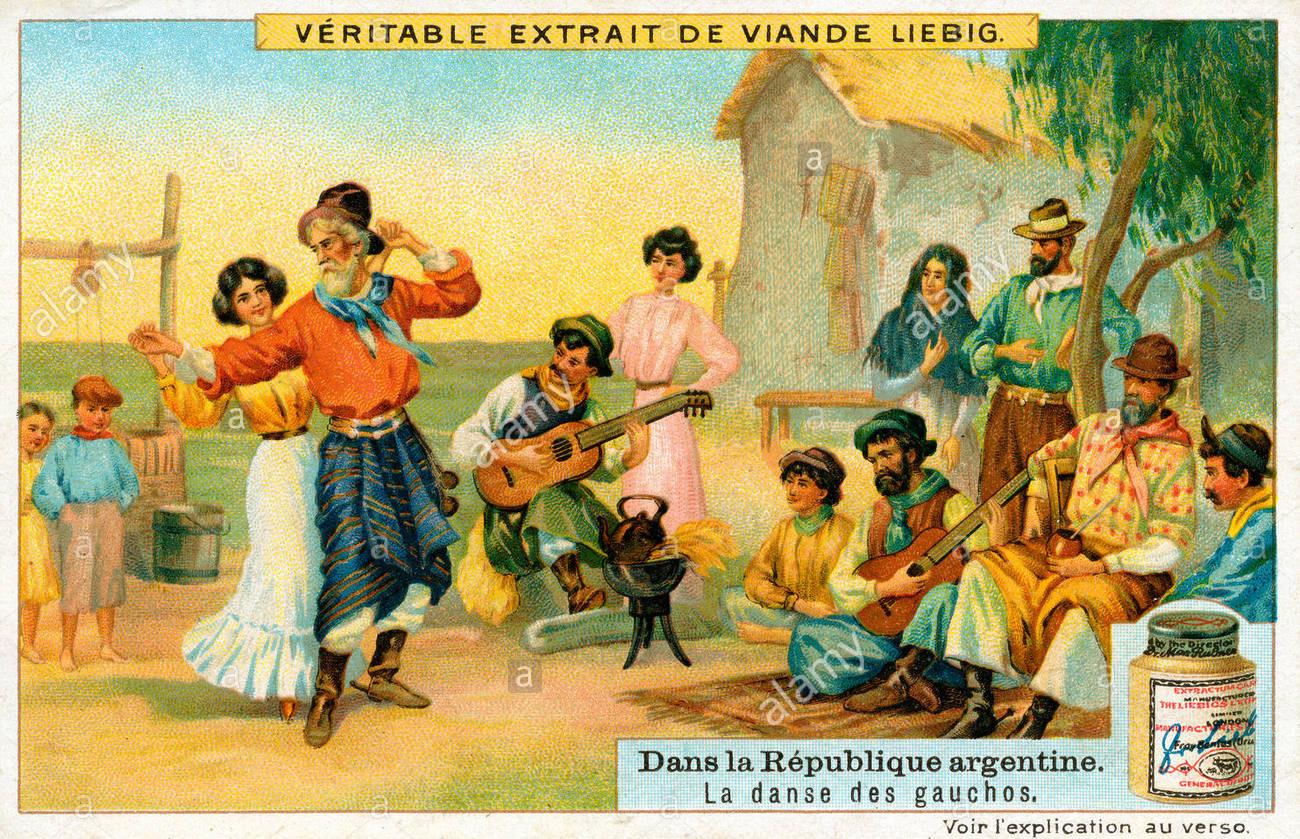 Liebig chromo 'La danse des Gauchos'