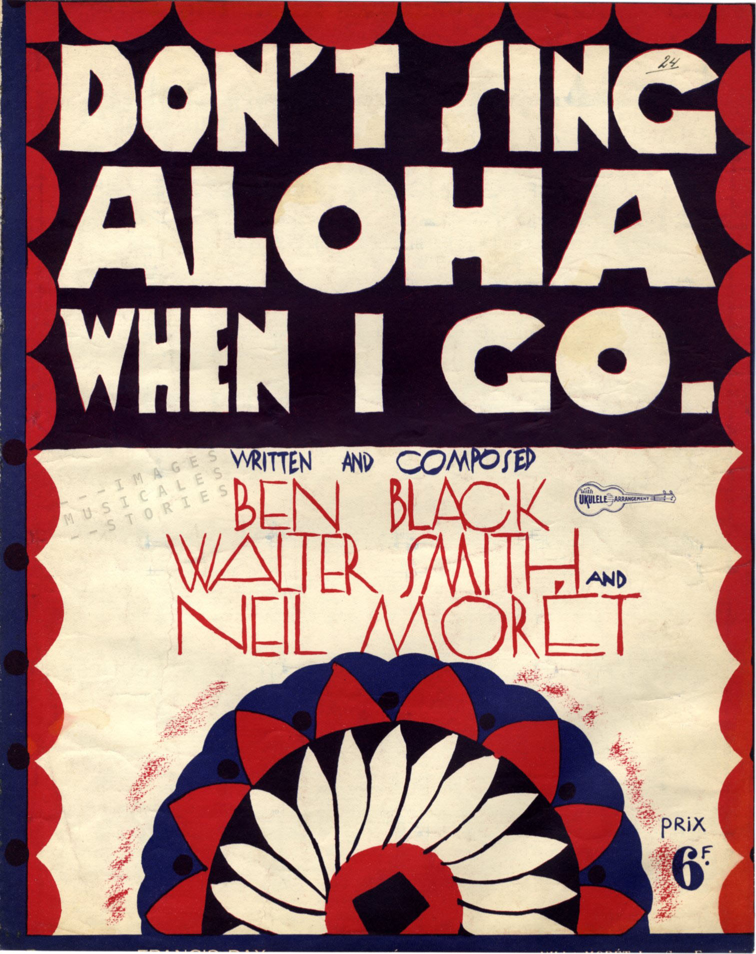 'Don't Sing Aloha when I Go', Illustration attributed to Fabien Loris.